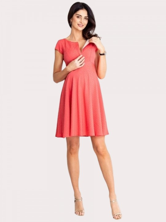 Maternity Dress LILOU CORAL