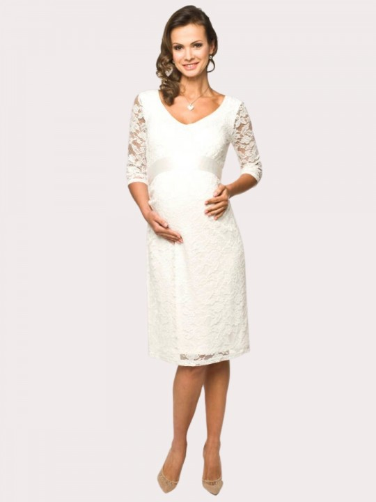 Wedding dress for pregnant Lace